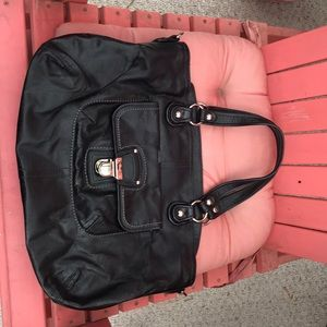 coach black leather purse. Gently used.